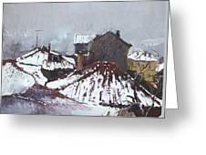 Snow In Elbasan Greeting Card