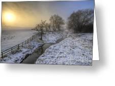 Snow Landscape Sunrise 2.0 Greeting Card