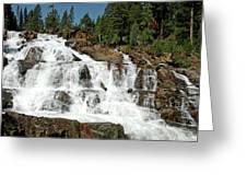 Snow Melt Glen Alpine Falls Greeting Card