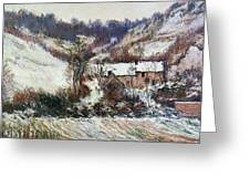 Snow Near Falaise Greeting Card