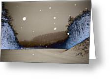 Snow On The Chero Solarized  Greeting Card