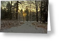 Snow Storm Sunset Greeting Card