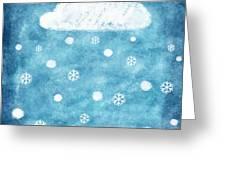 Snow Winter Greeting Card