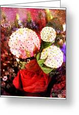 Snowball Plant Abstract 4 Greeting Card