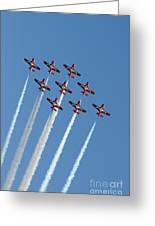 Snowbirds In The Big Diamond Formation Greeting Card