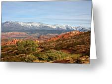 Snowcapped Foothills Greeting Card