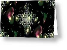 Snowflake Bubble Glass Greeting Card