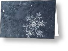 Snowflake In Blue Greeting Card