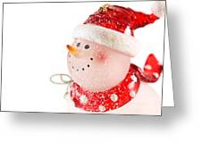 Snowman Figure Greeting Card