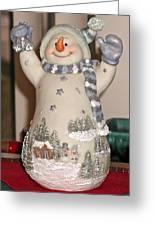 Snowman With Bell Greeting Card