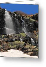 Snowmelt Waterfalls In Tuckermans Ravine Greeting Card
