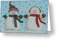 Snowmen 2 Greeting Card