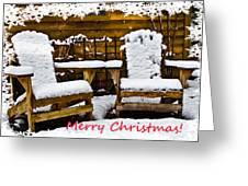 Snowy Coffee Holiday Card Greeting Card