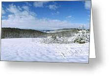 Snowy Hill Greeting Card