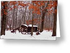 Snowy Implement Greeting Card