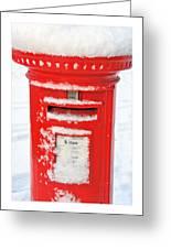 Snowy Pillar Box Greeting Card