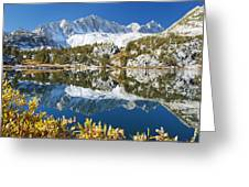 Snowy Reflections On Lake Greeting Card