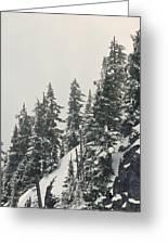 Snowy Ridge Near Snoqualmie Pass Greeting Card