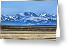 Snowy Rockies Greeting Card