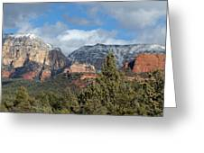 Snowy Sedona Afternoon Greeting Card
