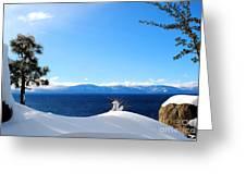 Snowy Tahoe Greeting Card