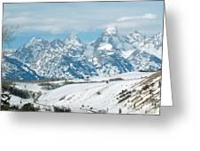 Snowy Tetons Greeting Card