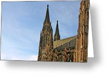 Soaring Spires Saint Vitus' Cathedral Prague Greeting Card by Christine Till