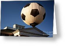 Soccer Ball Over Long Branch Greeting Card