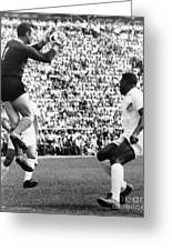 Soccer Match, 1966 Greeting Card by Granger