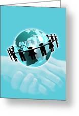 Social Networking, Conceptual Artwork Greeting Card