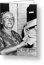 Social Security, 1940 Greeting Card