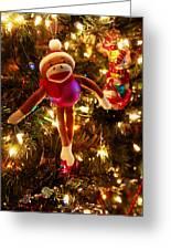 Sock Monkey Is In The Season Greeting Card