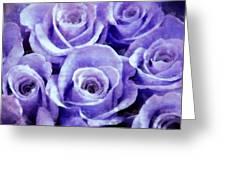 Soft Lavender Roses Greeting Card