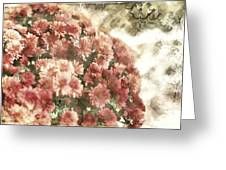 Soft Red Mums Greeting Card
