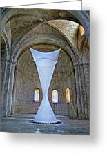 Soft Sculpture In A Monastery Greeting Card