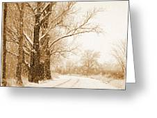 Soft Sepia Season's Greetings Greeting Card