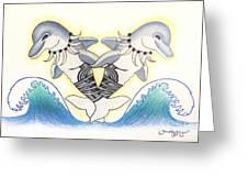 Soga'imiti Dolphins Greeting Card