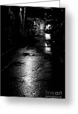 Soho Noir Greeting Card by Dean Harte