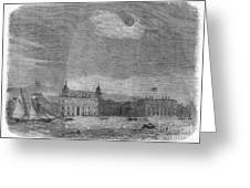 Solar Eclipse, 1858 Greeting Card