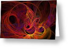 Solar Flares Greeting Card
