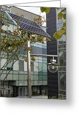 Solar-powered Street Light In Daejeon Greeting Card by Mark Williamson