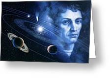 Solar System And Nicolaus Copernicus Greeting Card
