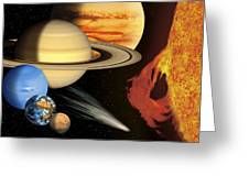 Solar System, Artwork Greeting Card