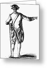 Soldier, 18th Century Greeting Card