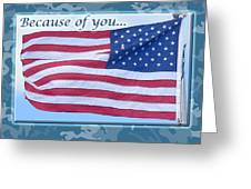 Soldier Veteran Thank You Greeting Card