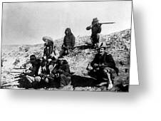 Soldiers And Scouts Greeting Card