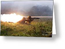 Soldiers Fire A Rocket Propelled Greeting Card