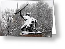 Soldiers In The Snow Greeting Card