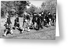 Soldiers March Black And White IIi Greeting Card