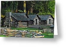 Soldiers Quarters At Valley Forge Greeting Card